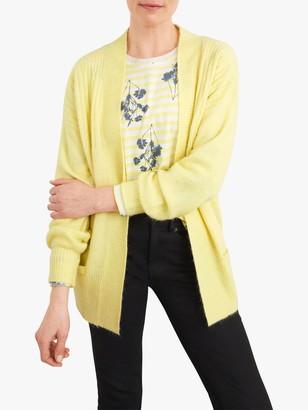 White Stuff Mixy Plain Cardigan, Light Yellow