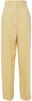 Theory Pleated Crepe Straight-leg Pants