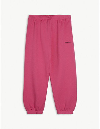Balenciaga Logo-print cuffed cotton jogging bottoms 4-10 years