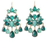 Charlotte Russe Faceted Stone Drop Earrings