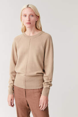 Cos KNITTED COTTON-YAK JUMPER