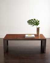 Horchow Grady Leather Coffee Table