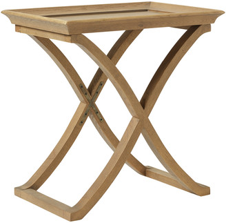 OKA Avignon Weathered Oak Side Table - Wood