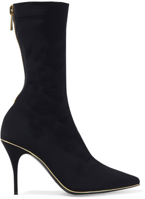 Zimmermann Metallic-trimmed Printed Stretch-jersey Sock Boots