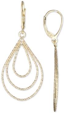 Italian Gold Teardrop Earrings in 14k Gold