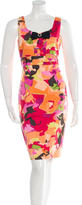 Oscar de la Renta Silk Printed Dress