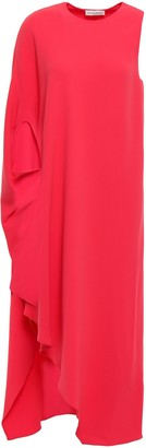 Narciso Rodriguez One-shoulder Draped Crepe Midi Dress