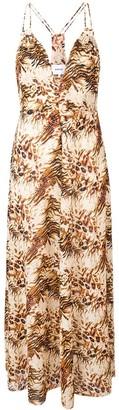 Nanushka Eden animal print dress