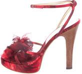 Dolce & Gabbana Satin Embellished Sandals