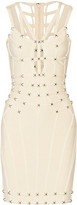 Herve Leger Cutout studded bandage mini dress