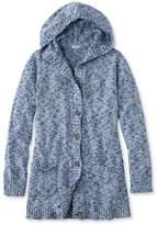 L.L. Bean L.L.Bean Cotton Ragg Sweater, Button-Front Hoodie