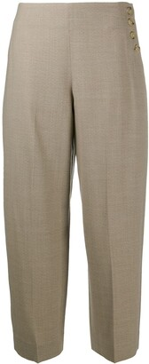 Vince Side-Button Wool Trousers