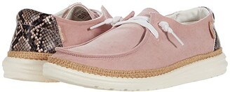 Hey Dude Wendy Python (Pink) Women's Shoes