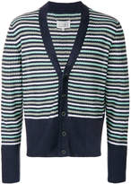 Maison Margiela V-neck striped cardigan