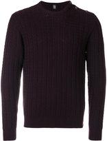 Eleventy zigzag knit crew neck sweater - men - Virgin Wool - S