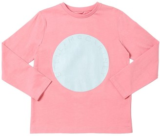 Stella McCartney Logo Print L/s Cotton Jersey T-shirt