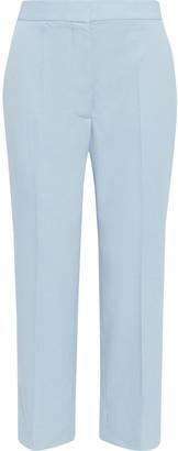 Stella McCartney Carlie Cropped Wool-twill Straight-leg Pants