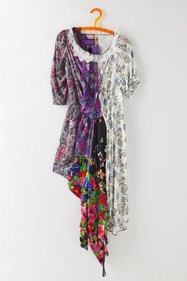 Urban Renewal Vintage Menyelek Floral Patchwork Dress