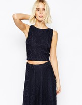 Gestuz Lace Cropped Top