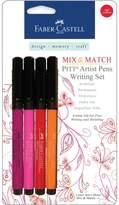 Faber-Castell Mix and Match Pitt Artist Pens - 4-pack Blue/Green Writing