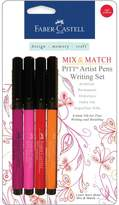 Faber-Castell Mix and Match Pitt Artist Pens - 4-pack Red/Yellow Writing