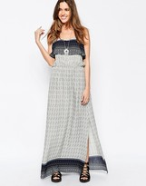 Brave Soul Printed Overlay Maxi Dress