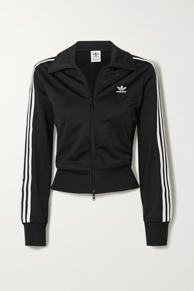 adidas Firebird Striped Tech-jersey Track Jacket - Black