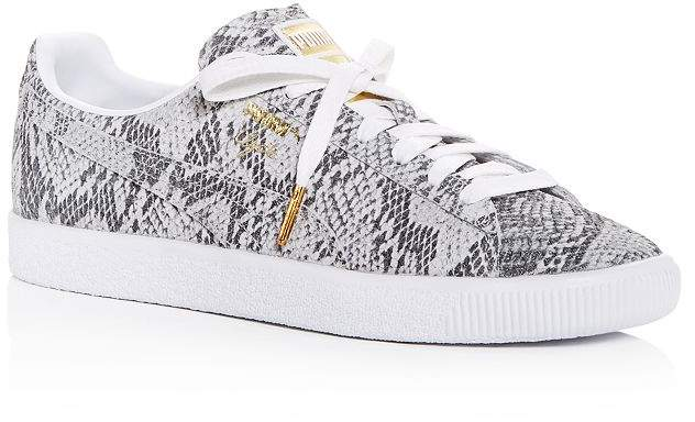 separation shoes 0a70a 7d22a Women's Clyde AO Snake-Embossed Low-Top Sneakers