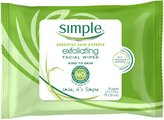 Simple Facial Wipes - Exfoliating - 25 ct