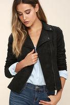 Olive + Oak Olive & Oak Highly Desired Black Suede Moto Jacket
