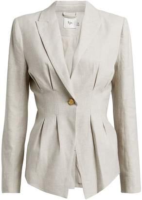 Aje Anne Linen-Blend Tailored Blazer