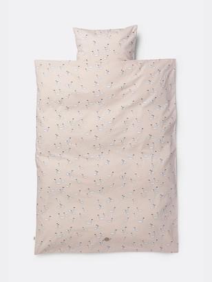 ferm LIVING Adult Pink Organic Cotton Swan Bedding Cover Set - organic cotton   Adult   pink - Pink/Pink