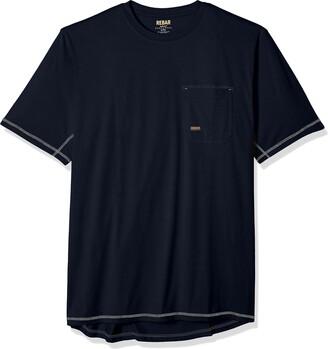 Ariat Men's Big and Tall Rebar Short Sleeve CrewHenley Shirt
