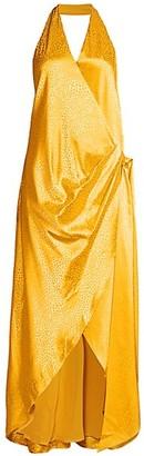 Fame & Partners Hannah Snake Print Halter Dress