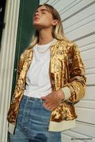 Forever 21 Crushed Velvet Track Jacket