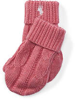 Ralph Lauren Cable-Knit Cotton Mittens