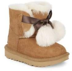 UGG Kid's Gita Shearling Boots - Chestnut - Size 1 (Child)