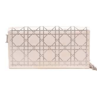 Christian Dior Lady Beige Silk Clutch bags