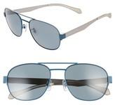 BOSS Men's 58Mm Polarized Navigator Sunglasses - Matte Blue Grey/ Grey