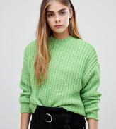Bershka knitted jumper in green
