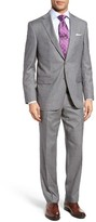 David Donahue Men's Ryan Classic Fit Check Wool Suit