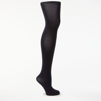 John Lewis & Partners Egyptian Cotton Velvet Opaque Tights