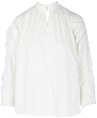 Maje Lamier Cotton-Poplin Shirt