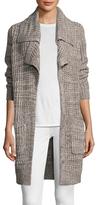 Autumn Cashmere Tweed Double Lapel Cardigan