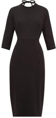 Goat Jerry Open-back Wool-crepe Midi Dress - Black