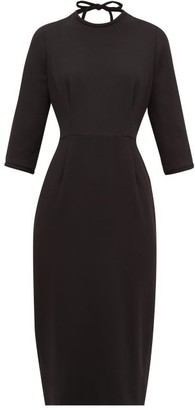 Goat Jerry Open-back Wool-crepe Midi Dress - Womens - Black