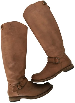 Brunello Cucinelli Beige Leather Boots
