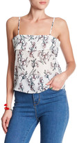 Lucca Couture Lace-Up Floral Tank