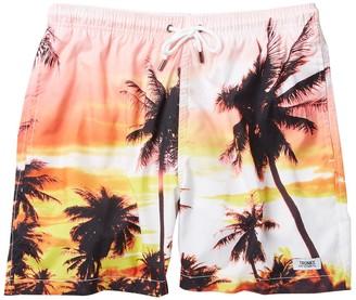 Trunks Surf And Swim Co. Palm Tree Photo Swim Shorts