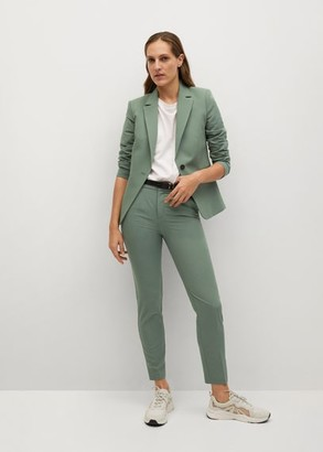 MANGO Fitted essential suit jacket